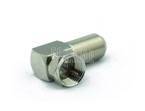 F Male To F Female Right Angle Adapter