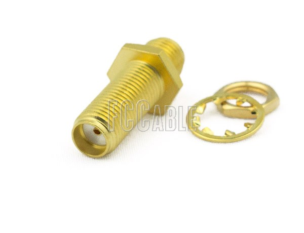SMA Female To SMA Female Bulkhead Adapter