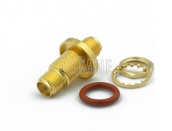 SMA Female To SMA Female Bulkhead Hemetically Sealed Adapter