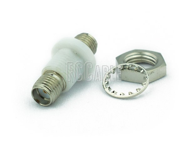 SMA Female To SMA Female Bulkhead Isolated Ground Adapter