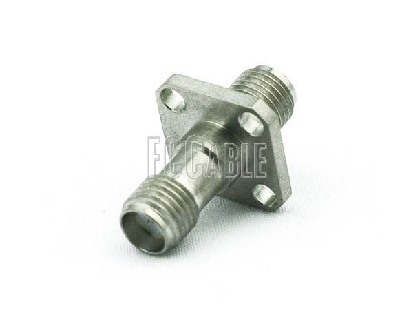 SMA Female To SMA Female Panel Mount Adapter