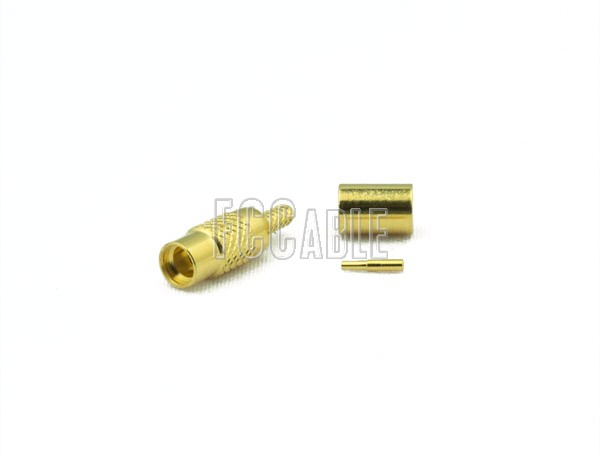 RF MMCX Jack Connector CRIMP For RG178, RG196