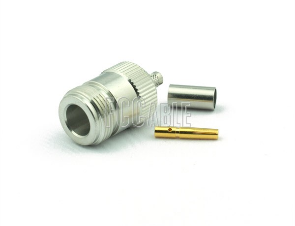 RF N Female Connector CRIMP For RG58, RG141, RG303, LMR195, B7806A