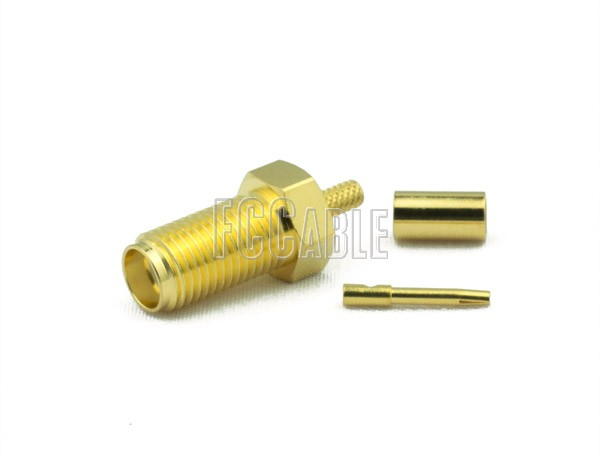 RF SMA Female Connector CRIMP For RG174, RG188, RG316, B7805A