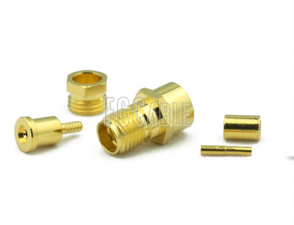 RF SMA Female Connector CRIMP For RG178, RG196