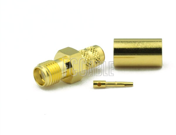 RF SMA Female Connector CRIMP For RG59, RG62, RG140, RG210