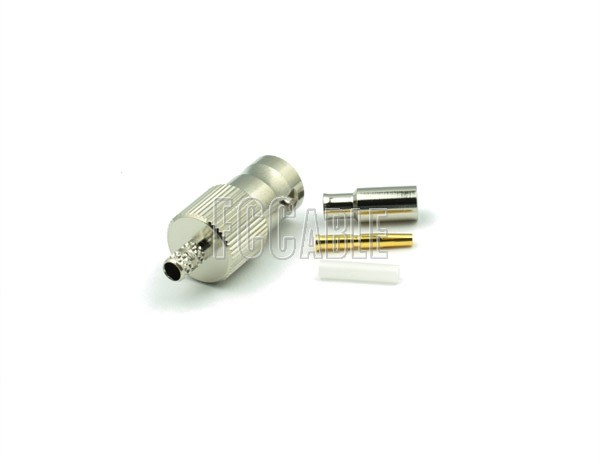 RF BNC Female Connector CRIMP For RG179, RG187, B9221