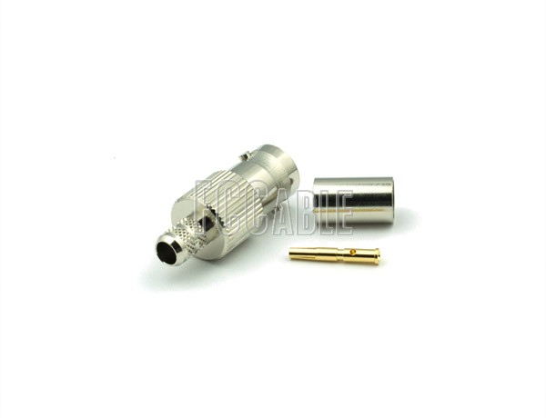 RF BNC Female Connector CRIMP For RG59, RG62, RG140, RG210