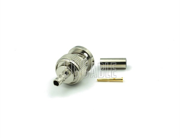 RF BNC Male Connector CRIMP For RG180, RG195, B8218