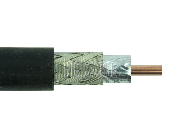 RF Flexible Times LMR300 50 Ohm Low Loss Coax Cable 0.300 inches Diameter, Double Shield, Black PE Jacket