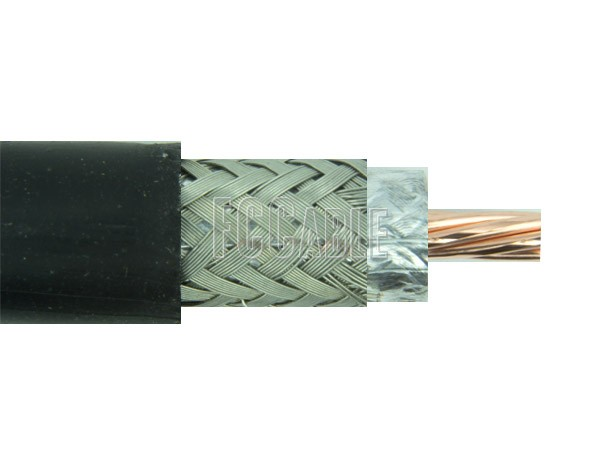 RF UltraFlexible Times LMR400UF 50 Ohm Low Loss Coax Cable 0.405 inches Diameter, Double Shield, Black TPE Jacket