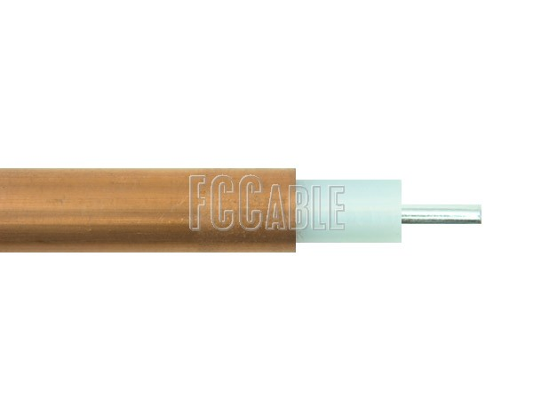 RF Semi-Rigid RG401 50 Ohm Coax Cable 0.250 inches Diameter Outer Copper Conductor