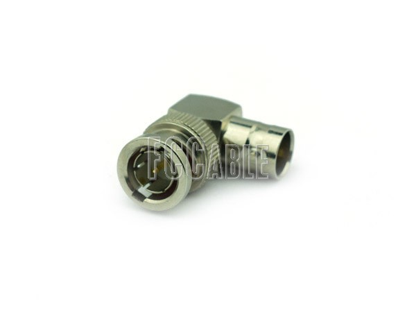 Adapters - 75 Ohm BNC Male To 75 Ohm BNC Female Right Angle Adapter 75 OHM BNC m   0 75 OHM BNC f   1