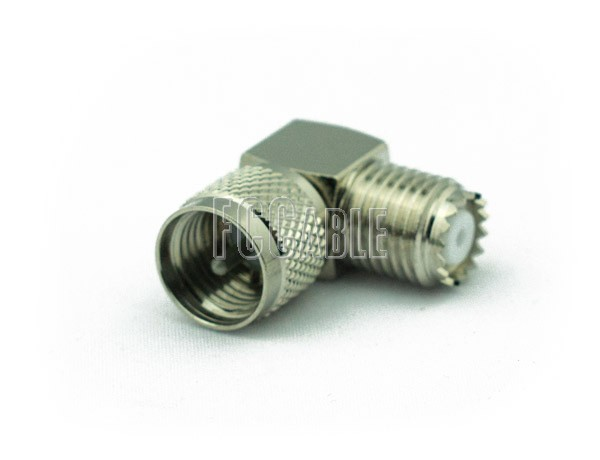 Adapters - MINI UHF Female To MINI UHF Male Right Angle Adapter MINI-UHF f   0 MINI-UHF m   1