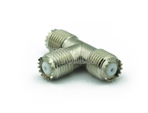 Adapters - MINI UHF T Female to Female to Female Adapter MINI-UHF f   0     0
