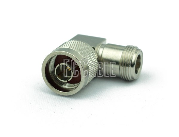 Adapters - 75 Ohm N Male To 75 Ohm N Female Right Angle Adapter 75 OHM N m   0 75 OHM N f   1