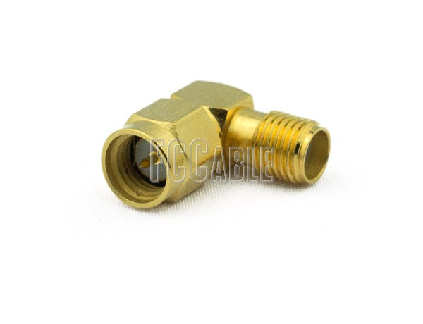 Adapters - SMA Male To SMA Female Right Angle Adapter SMA m   0 SMA f   1