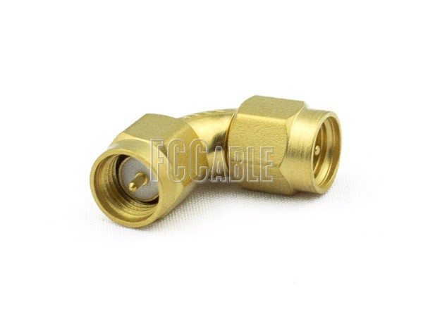 Adapters - SMA Male To SMA Male Radius Right Angle Adapter SMA m   0 SMA m   1