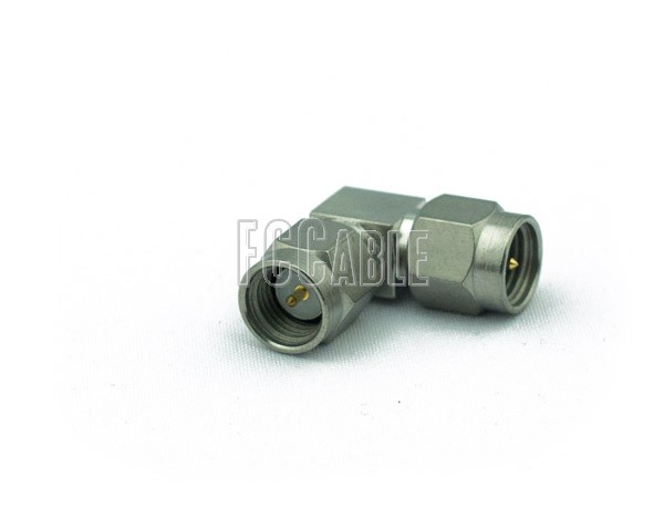 Adapters - SMA Male Right Angle To SMA Male Adapter SMA m   1 SMA m   0