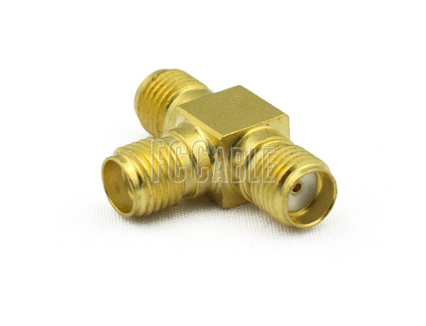 Adapters - SMA T Female to Female to Female Adapter SMA    0     0