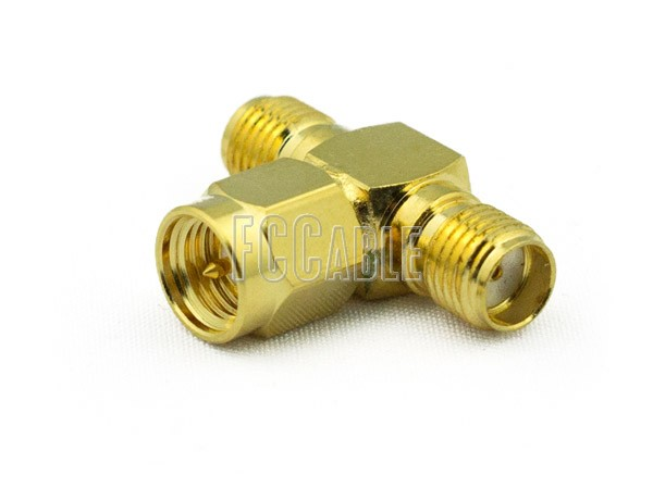 Adapters - SMA T Female to Male to Female Adapter SMA    0     0