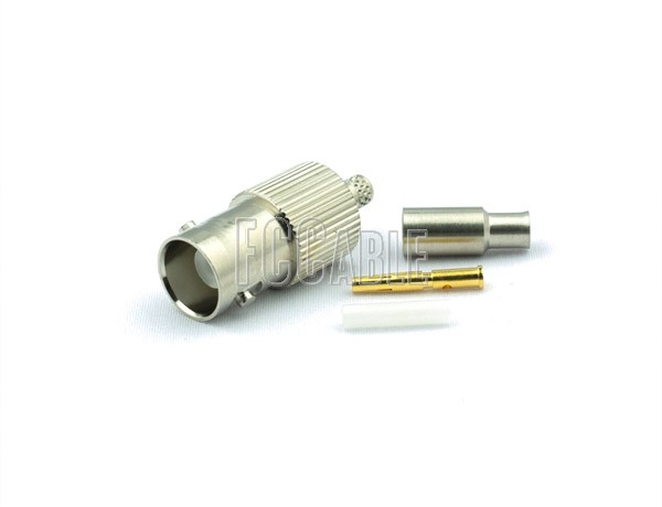 BNC Female Connector CRIMP For RG188DS, RG316DS