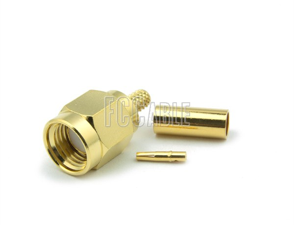 RF SMA Reverse Polarity Male Connector CRIMP For RG174, RG188, RG316, B7805A