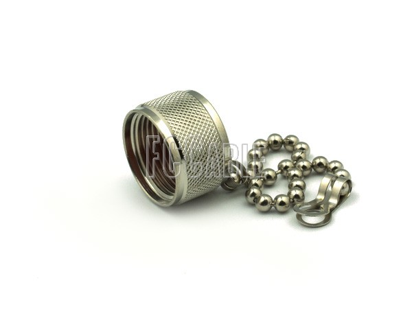 Caps - N MALE NON-SHORTING DUST CAP WITH CHAIN 7/16    0     0