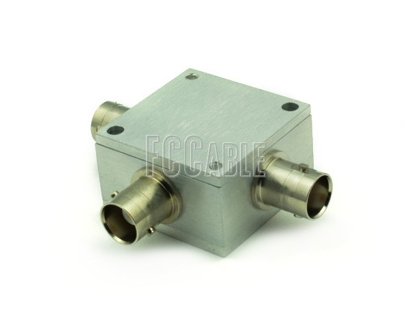 Power Dividers - BNC FEMALE 2-Way Power Divider / Combiner 10 To 1000 MHz 1-WATT BNC    0  f   0
